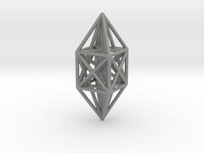 10 node complete graph ornament in Gray PA12
