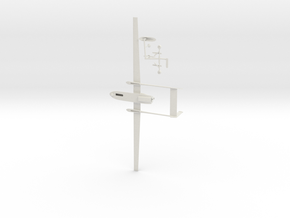 042E Heron with extra antennas 1/48 in White Natural Versatile Plastic