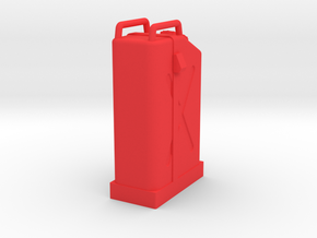 Gas Can with holder in Red Processed Versatile Plastic