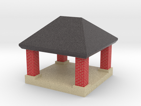 mini gazebo shelter structure in Full Color Sandstone: 1:220 - Z
