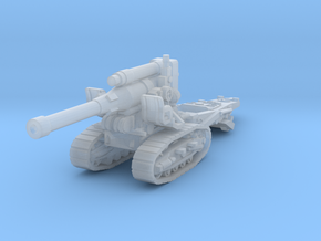 B4 howitzer scale 1/144 in Smooth Fine Detail Plastic