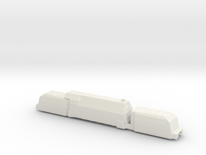 panzerzug 64 1/285 panzerlok armoured train  in White Natural Versatile Plastic