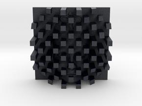 Checkerboard Mask + Nefertiti Face (001b) in Black PA12