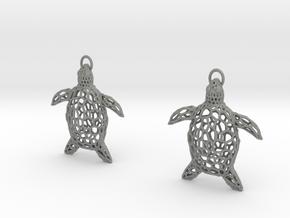 Turtle Earrings in Gray PA12
