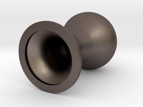 EQzer (22 mm wide) - FreeXperience in Polished Bronzed-Silver Steel