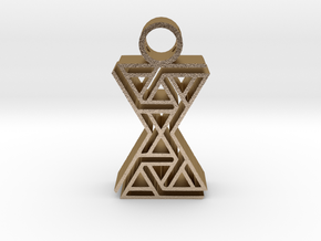tribal pendant 9 in Polished Gold Steel