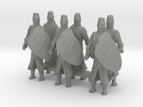 1-87 templar knights in Gray Professional Plastic