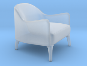 Miniature Poline Lounge Chair - Artefacto in Smooth Fine Detail Plastic: 1:12