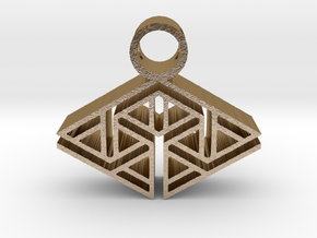tribal pendant 12 in Polished Gold Steel