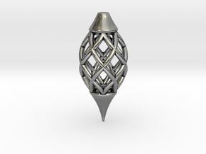 VESCICA PINEAL PENDULUM in Antique Silver