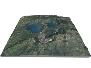 "Newberry Volcano Map, Oregon: 8""x10"" in Matte Full Color Sandstone"