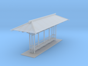 LAPAC Shelter Without Blinds N Scale in Smooth Fine Detail Plastic
