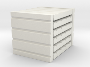 3 x 3 Four Panel Set in White Natural Versatile Plastic