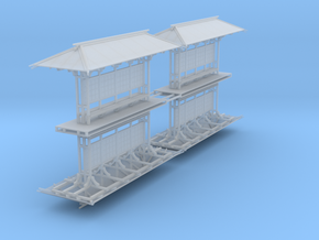 LAPAC Shelter N Scale 4 pk Flat in Smooth Fine Detail Plastic