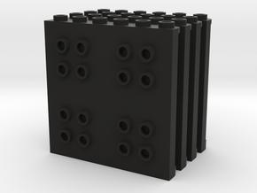 Vertical Panel Set in Black Natural Versatile Plastic