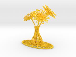 Flower vase in Yellow Processed Versatile Plastic