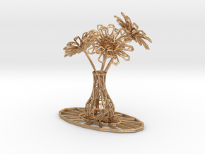 Flower vase in Natural Bronze