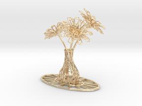 Flower vase in 14K Yellow Gold