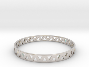 Bracele - Stablia in Rhodium Plated Brass: Small
