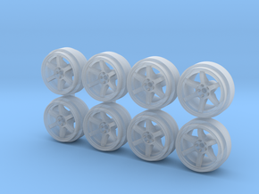 Rays TE37 9-0 Hot Wheels Rims in Smoothest Fine Detail Plastic