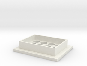 Foot for IKEA IVAR shelving unit in White Natural Versatile Plastic