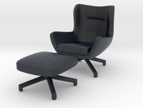 Miniature Jensen Armchair - Minotti in Black PA12: 1:12