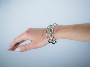 PENROSE SINGLE CUFF in Polished Silver