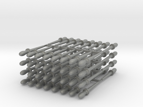 64 1:24 scale belaying pins in Gray PA12