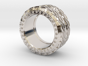 mojomojo - Industrial Series 1A in Rhodium Plated Brass