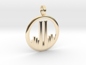 NEVER FORGET WTC 911 PENDANT in 14K Yellow Gold