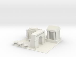 Roman Forum in White Natural Versatile Plastic