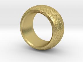 mojomojo - Flower Vine modern ring design 1A in Natural Brass
