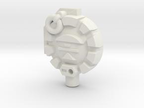 Combatron/Apocalypse Planet 5mm Cyberkey in White Natural Versatile Plastic