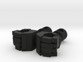 Replacement Hand Set for TF TR Chromedome Getaway in Black Natural Versatile Plastic