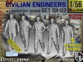 1/56 Engineers Set101-03 in Smooth Fine Detail Plastic