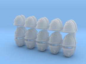 30 Retributors Shoulder Pads in Smooth Fine Detail Plastic