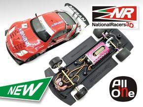 3D Chassis - Ninco Nissan 350Z (Inline - AllinOne) in Black Natural Versatile Plastic