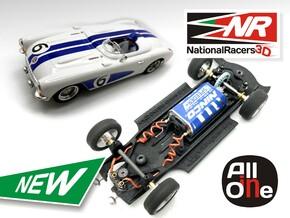 3D Chassis - NINCO Corvette C1 (Inline - AiO) in Black Natural Versatile Plastic