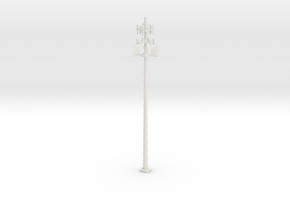 Cell Tower 110ft - HO 87:1 Scale in White Natural Versatile Plastic