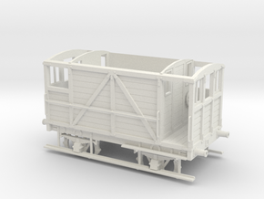Furness Railway/LMS/British Railways 10-12ton Brak in White Natural Versatile Plastic