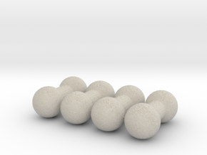 4mm Double Ball Joint - Set of 4 in Natural Sandstone