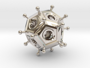 Roman Dodecahedron  in Platinum