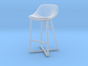 Miniature Noti Mishell Barstool - Noti in Smooth Fine Detail Plastic: 1:12