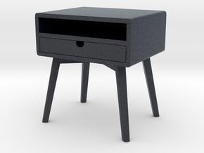 Miniature Bedside Table Series V2 - Yelkkin Dom  in Black PA12: 1:12