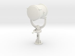 1:12 scale Search Light in White Natural Versatile Plastic