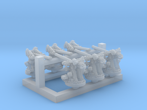 "1/500 12-pdr 3""/45 (76.2 cm) 20cwt Guns x6 in Smoothest Fine Detail Plastic"