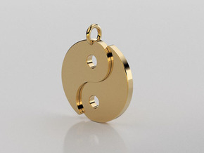 Ying Yang Pendant in 14K Yellow Gold