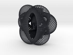 Enneper Curve Art + Nefertiti (001a) in Black Professional Plastic