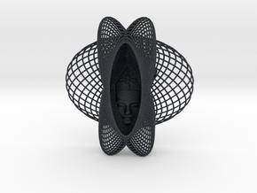 Enneper Curve Art + Nefertiti (001c) in Black Professional Plastic