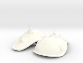 ELEPHANT HEAD ARMOR 3x2  in White Processed Versatile Plastic